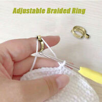 Ring Type Knitting Tools Yarn Guides Wear Thimble Finger Thimble Sewing  Durable