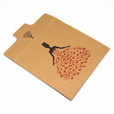 30X Thick Kraft Paper CD Sleeve Case Flap Envelope Bag for CD DVD CDR Disc Media