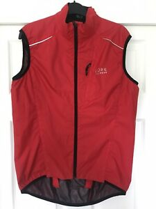 Gore Bike Wear Windstopper Active shell Gilet Medium Red Exc Cond