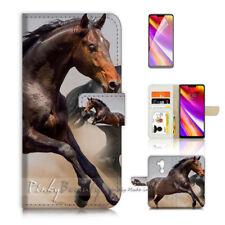 ( For LG G7 )  Wallet Flip Case Cover P21153 Horse