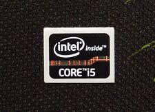 Intel Core i5 Inside Black Genuine Case Badge Sticker 15.5 x 21mm U.S.A Sel