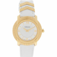 VERSACE Women's Swiss Made Gold & White Analogue Watch rrp £1060