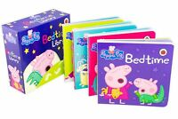 Peppa Pig Bedtime Library 4 Board Book Collection, Bathtime, Bedtime, Storytime,