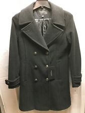 Marc New York Wool Blend Black Coat Womens  Classic Button Front Sz 4 NWT!!