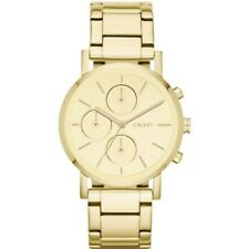 DKNY Women's Quartz Watch NY8861 Lexington Metal Strap, Yellow Gold, Chronograph