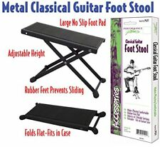 Pgf1 Guitar Foot Stool Adjustable Height Black Metal Tour Grade Professional