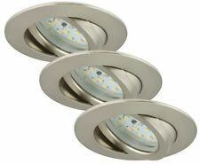 Briloner Led-einbauleuchte 3er-set 7232-032 Ip23 Nickel (matt)