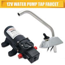 12V Galley Electric Water Pump Faucet Tap Kit Garden Caravan Boat Self Priming