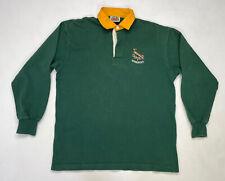 New listing Barbarian Springboks Rugby Polo Shirt Men Adult XXL Green long Sleeve