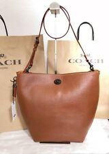NWT Coach 1941 Duffle Shoulder Crossbody Bag 58019 Saddle Pebble Leather $550