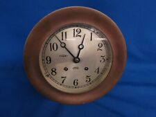 """Chelsea Ship's Bell Brass Clock As Is For Restore 5 1/2"""" Dial"""