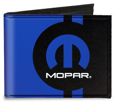 Canvas Mopar logo bi-fold wallet - great gift! Dodge Chrysler Plymouth