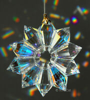 "Handcrafted 52mm Austrian Crystal Clear AB 2"" Star Prism SunCatcher Ornament"