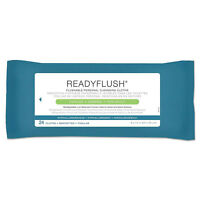 Medline ReadyFlush Biodegradable Flushable Wipes 8 x 12 24/Pack MSC263810