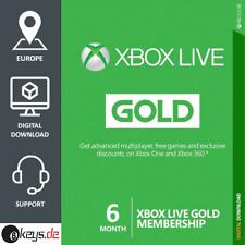 XBOX Live Gold Mitgliedschaft 6 Monate   Microsoft Xbox ONE   Code per Mail