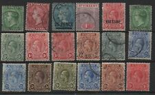 18 old stamps from st vincent
