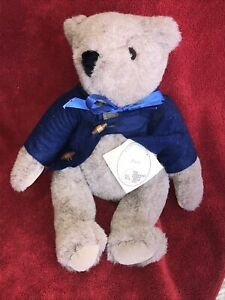 Vintage! N W T Vermont Teddy Bear Poco  WITH TAGS and SHIRT! NEW!