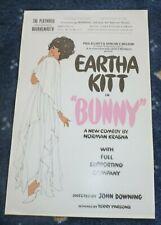 Eartha Kitt  Bunny  Bournemouth Playhouse Summer Season Flyer 1973