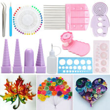 11Pcs Multi-color DIY Paper quilling Board Mold Crimper Comb Ruler Pins Tool Kit