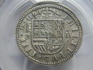 1652 SEGOVIA 2 REAL PCGS MS62 PHILIP IV HIGH GRADE SPANISH SILVER COLONIAL ERA