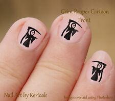 Lindo Grim Reaper, vista frontal 24 Diseño Exclusivo De Arte De Uñas Stickers