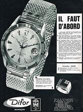 PUBLICITE ADVERTISING 014   1962   DIFOR  montres  bijoux SARDA