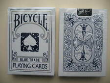 Rare Bicycle BLUE TRACE Deck Playing Cards Magic Outline Distressed Ace Design