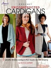 Crochet Pattern Book UNCONSTRUCTED CARDIGANS ~ Sweaters, Vest, Fly Away ++