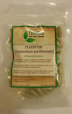 Feverfew (Tanacetum parthenium) - 100x Pure Herbal Capsules.