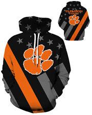 Clemson Tigers Hoodie Medium-3XL Lightweight Unisex College Football