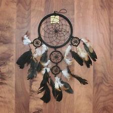 Traumfänger Dreamcatcher Traum Träume träumen Federn Indianer Perlen schwarz 16