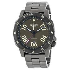 Nixon Ranger Brown Dial Mens Gunmetal Watch A941-1418-00