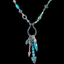 Western Bohemian Metal Gold Silver Rose Gold Patina Arrow Pendants Necklace
