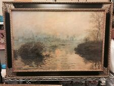 Sunset At LavacourtClaude Monet painting Brushstrokes Collection Museum 314 /980