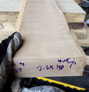 """1.9"""" Quartersawn Rock Maple🍁Neck Through Thru🎸set Neck Deep Tilt 1.9x6.5x40 KD"""
