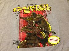 Counter Strike 2XL Grey Vintage T-Shirt!!! Nokami/NES Nintendo Video Game Art!!!