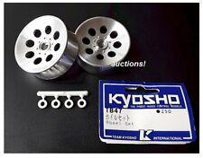 Vintage RC Kyosho Blizzard / Heavy Metal / Nitro TB-47 Wheels Silver Old Stock