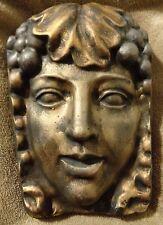Lady garden face plaque plastic mold concrete plaster mould
