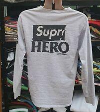 Rare SS14 Supreme Anti Hero Long sleeve heather grey Tee size M L/S T-shirt