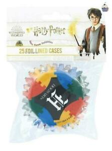 Harry Potter Cupcake Cases Foil Lined Bun Baking Cooking 25 Pack Birthday Party