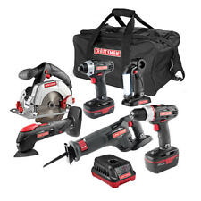Craftsman 6 Piece 19.2 Volt Combo Kit w/ 2 Batteries Charger and Bag