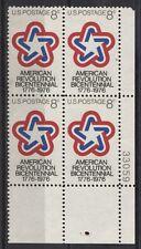 USA 1043 Viererblock, Pl.-Nr.  200 J. Unabhängigkeit der Vereinigten Staaten **