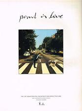 Paul McCartney - Paul Is Live Original Magazine Music Ad Advert 1993