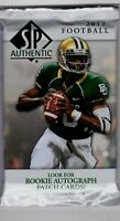 1-2012 UPPER DECK SP AUTHENTIC NFL R/C PATCH AUTOGRAPH HOT PACK 100%GUARANTEED