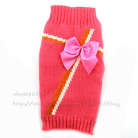 Cute Dog Pet Puppy Cat Jumper Knit Sweater Clothes Knitwear Coat Costume Apparel