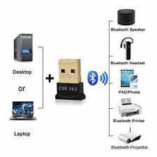 Mini USB Bluetooth CSR V4.0 Dongle Dual Mode Wireless Adapter for Windows 10,8,7