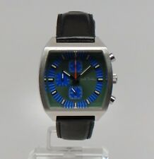 Paul Smith SQUARE GREEN & BLUE CHRONOGRAPH DRESS WATCH Boxed