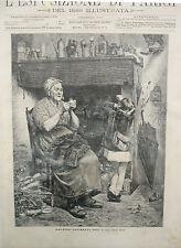 stampa antica grabado 1889 cucitrice SARTORIA SOUZA PINTO SAN PAOLO BRASILE