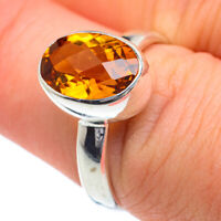 Mandarin Citrine 925 Sterling Silver Ring Size 8 Ana Co Jewelry R62201F