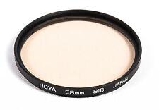 Hoya 58mm 81B Ultraviolet Warming Multicoated Light Balancing Glass Filter EX